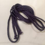 Braided belt purple