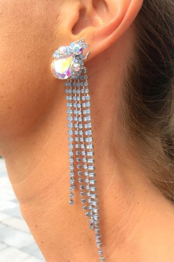 013fa2ad5221 Dawn Two-piece earrings Crystal AB Air Blue Opal